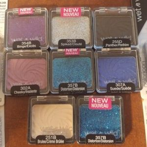 New Wet N Wild Eyeshadow Mixed Lot of 12 Glitter